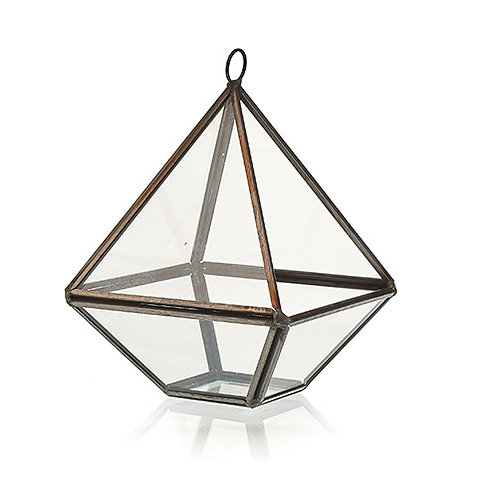 Glass Terrarium - Small Diamond