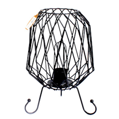 Mesh Industrial Iron Lamp, Cable and Bulb
