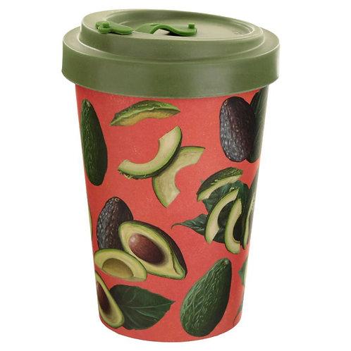 ECO Avocado Reusable Screw Top Bamboo Composite Travel Mug