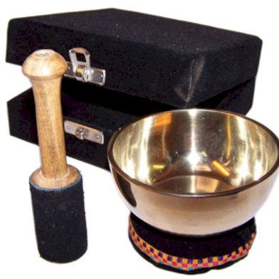Brass Singing Bowl Gift Set - 9cm