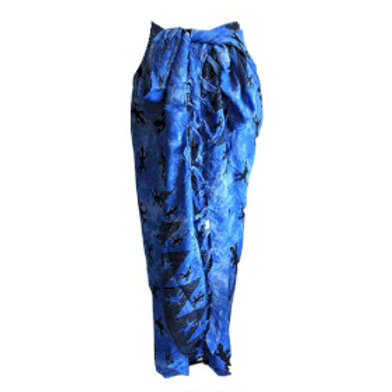 Bali Gecko Sarongs - Blue