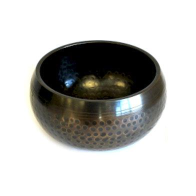 Medium Black Beaten Bowl - 15cm
