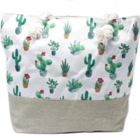 Rope Handle Bag - Mini Cactus
