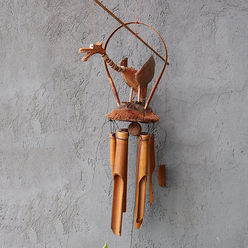 Bamboo Windchime - Natural finish - Coconut Dragon