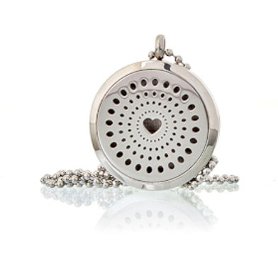 Aromatherapy Diffuser Necklace - Diamond Heart 30mm