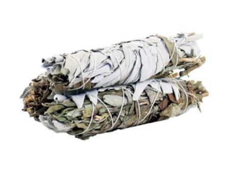 Smudge Stick - White Sage & Black Sage 10cm