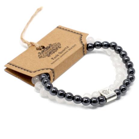 Magnetic Gemstone Bracelet - Rock Quartz