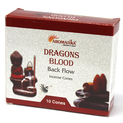 Aromatika Backflow Incense Cones - Dragons Blood