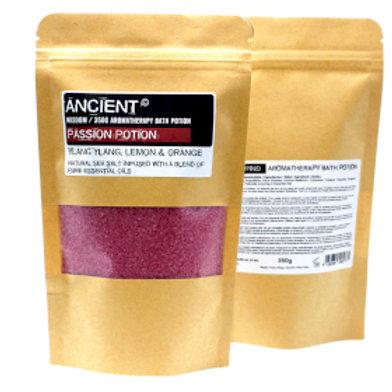 Aromatherapy Bath Potion in Kraft Bag 350g - Passion