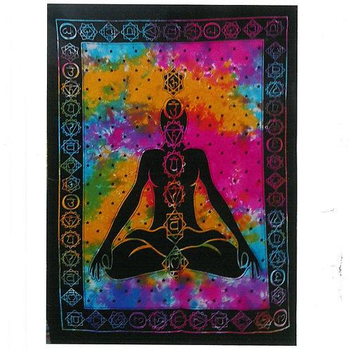 Cotton Wall Art - Chakra Buddha