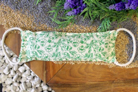Natural Cotton Wheat Bags -Green