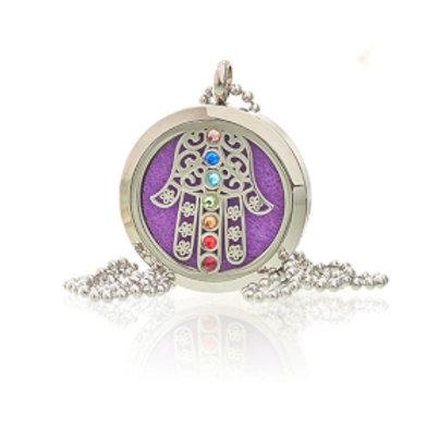 Aromatherapy Jewellery Necklace - Hamsa Chakra - 30mm
