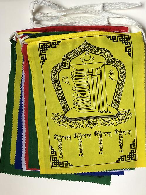 Kalachakra gebedsvlaggetjes  groot 1 + 1 gratis!