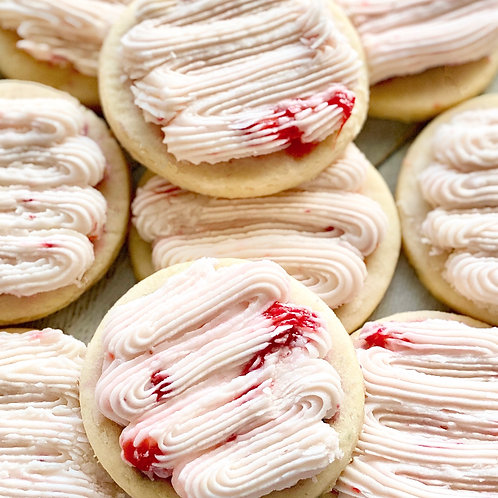 Strawberry White Chocolate Buttercream Cookies