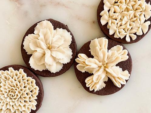 Hazelnut Buttercream Chocolate Sugar Cookies
