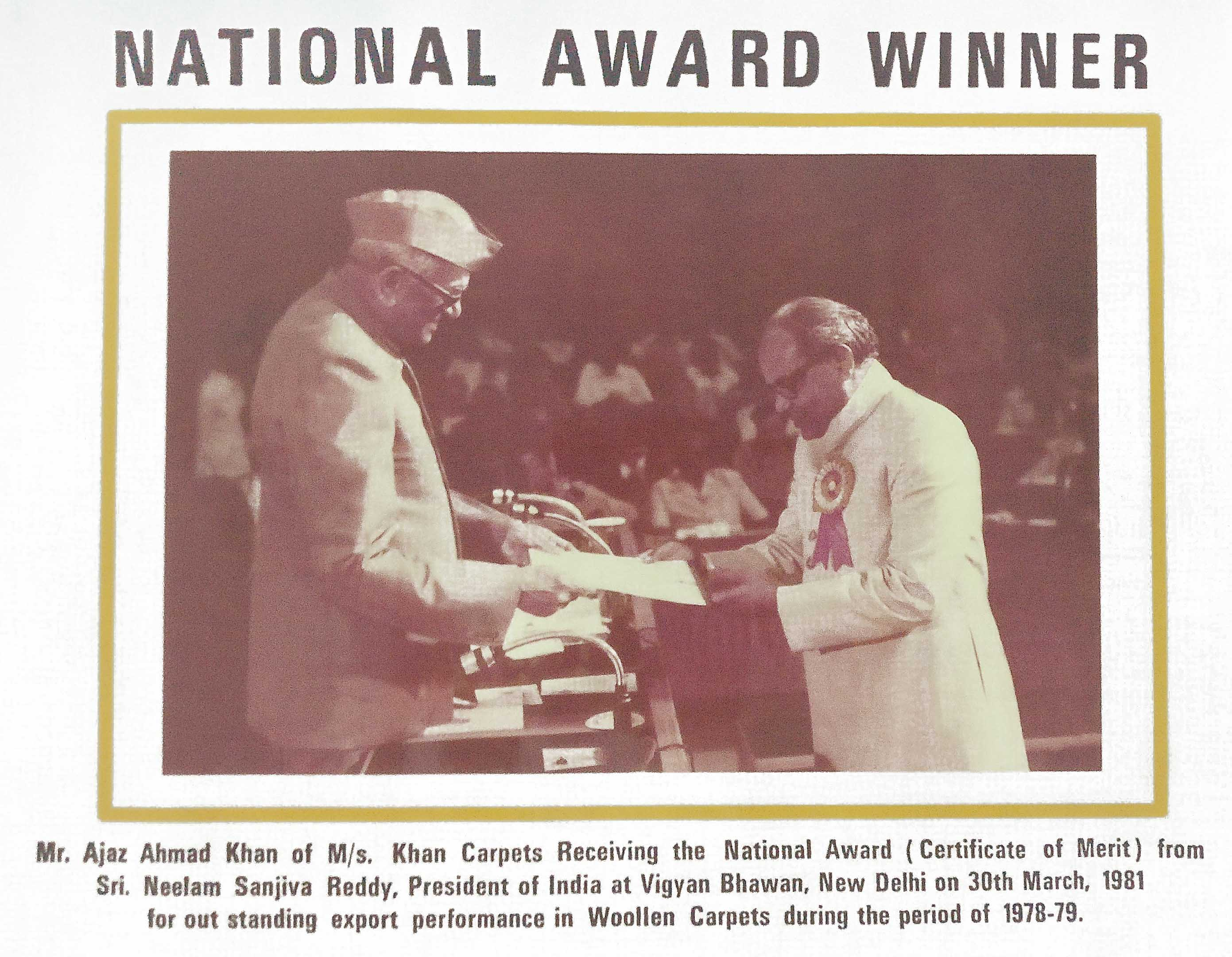 1981- National Award