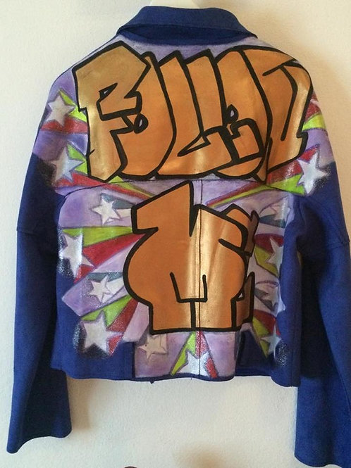 "The ""FOLLOW ME"" jacket"
