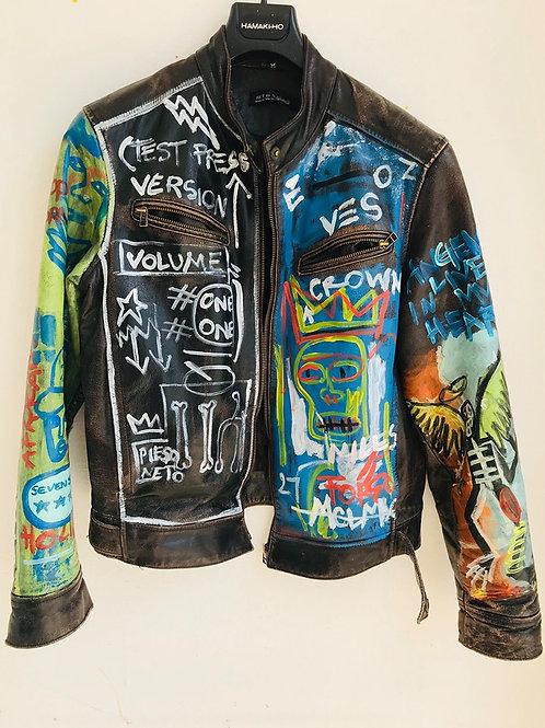 Blue punk jacket