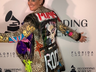 Dj Tracy Young,the grammy award winner 2019 for the last Madonna remix song!She wearing a one of a k
