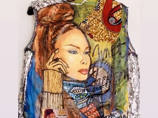 Janet Jackson repost my art fashion creation on her instagram account!!!OMG!!!