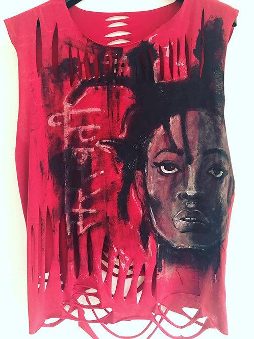 Afro girl tshirt