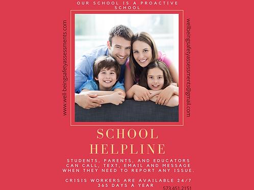School Helpline Postcards with envelopes