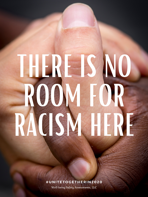 There is no room for Racism Poster