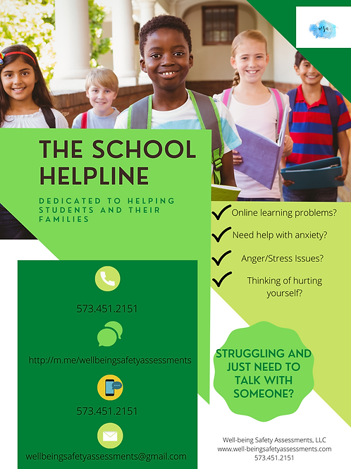 THE SCHOOL HELPLINE POSTER