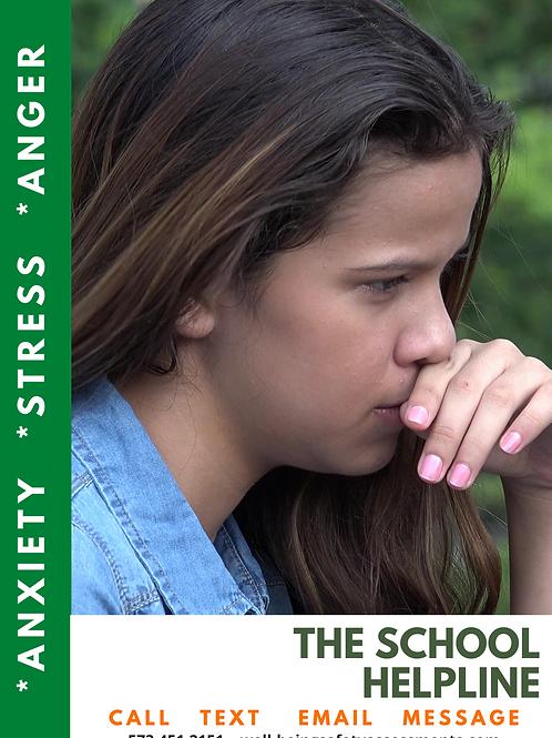 The School Helpline -Green Poster