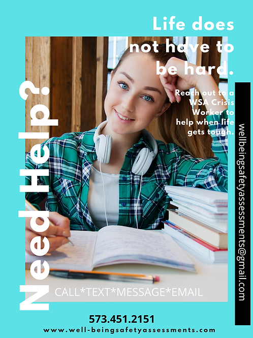 Teal School Helpline Poster