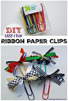 DIY-Ribbon-Embellished-Jumbo-Paper-Clips