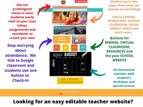 Virtual Teacher Website
