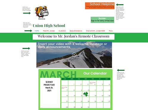 School District Virtual Teacher Websites (300) plus administrator portal