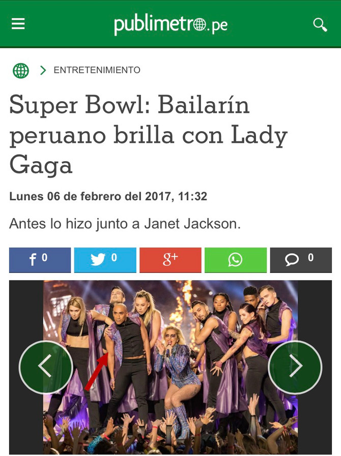 Victor Rojas Lady Gaga Super Bowl