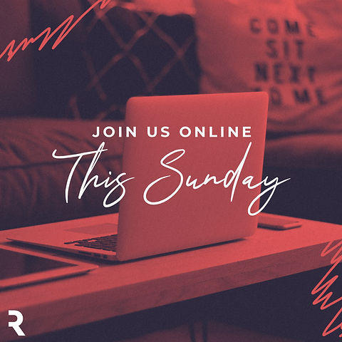 Join Us Online This Sunday Red Scribbles