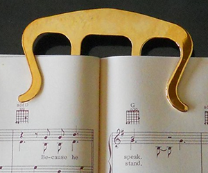 gold book holder