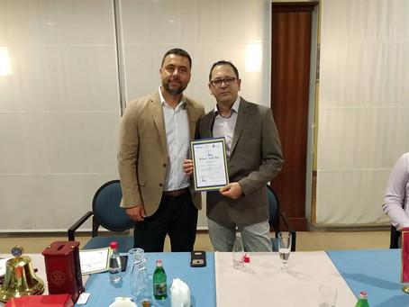 Rotary Club Bar večeras je imao čast da ugosti g-dina Igora Miloševića.