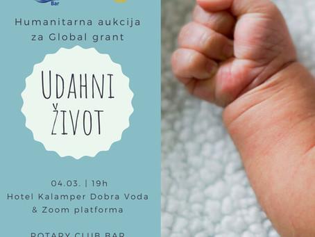 """Online donatorsko-aukcijsko veče  """"UDAHNI ŽIVOT""""."""