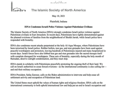 ICN statement regarding the Police Violence Against Palestinian Civilians