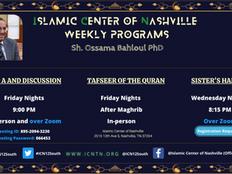 Sh. Ossama Bahloul's weekly educational programs