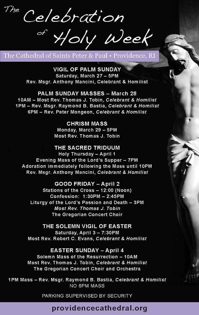 Cathedral Holy Week 2021