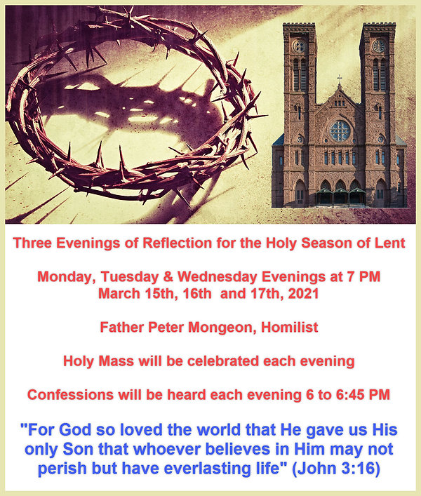 2021 Lenten Mission at the Cathedral