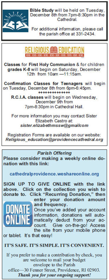 Latest News Cathedral of SS. Peter and Paul Providence RI