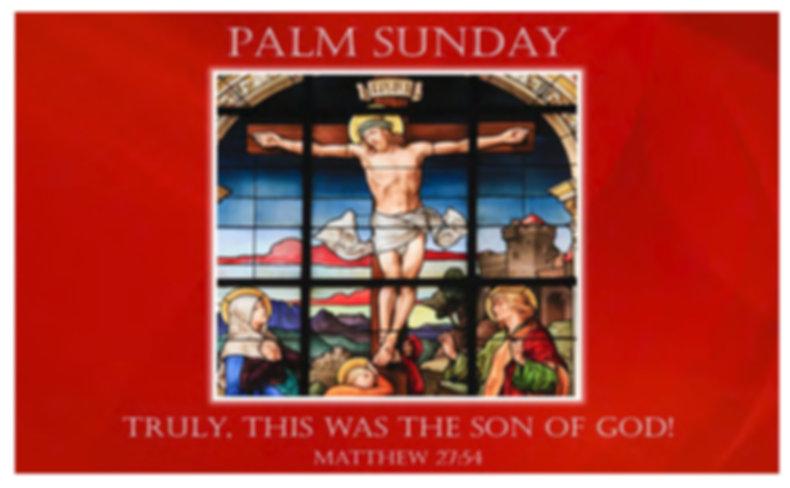 Palm Sunday Special Bulletin