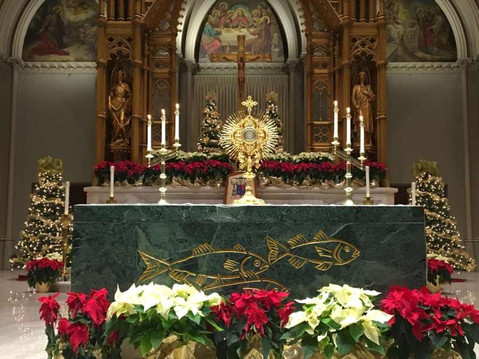 Eucharistic Adoration at the Cathedral of Saints Peter and Paul, Providence, Rhode Island