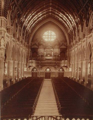 A Vintage Photo of the Cathedral of Saints Peter and Paul, Providence, Rhode Island