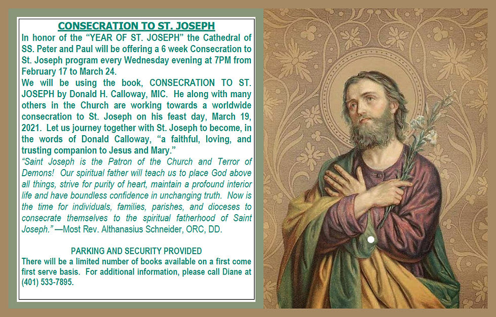 Consecration to Saint Joseph Program at the Cathedral of Saints Peter and Paul