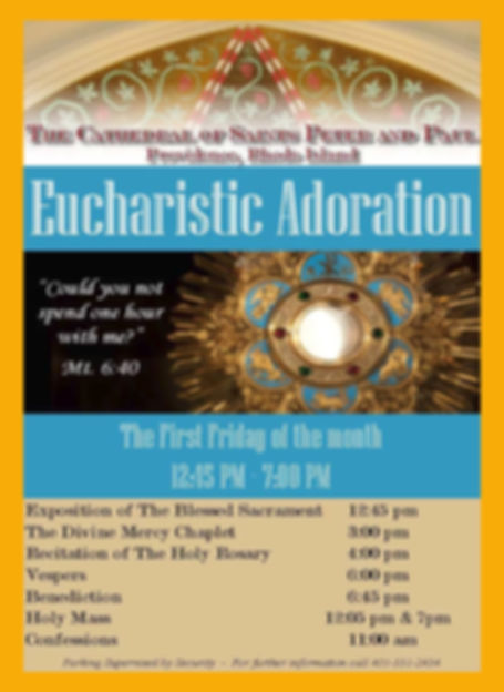 Eucharistic Adoratin at the Cathedral Dr. Joseph J. Plaud