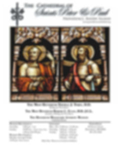 Download the Latest Bulletin of the Cathedral of SS. Peter and Paul Dr. Joseph J. Plaud