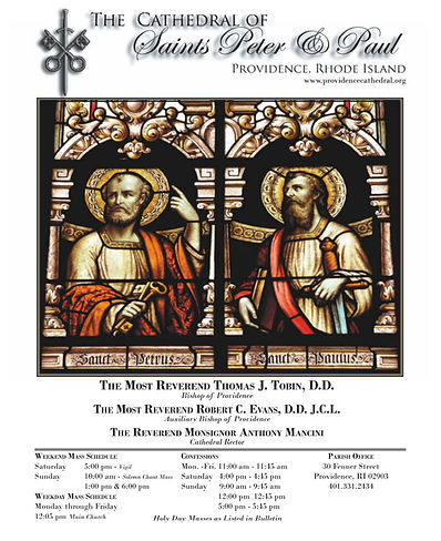 Download This Week's Bulletin of the Cathedral of SS. Peter and Paul Dr. Joseph J. Plaud
